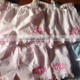 Monogrammed Ruffle Seersucker Boxer Shorts                                                                         Quality Choice