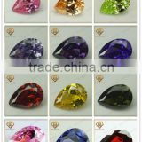 Beautiful Cubic Zirconia CZ gems Of Pear Cut Gemstone For Jewelry