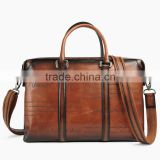 Fashion & Vintage Style Men's Leather Business Bag Factory                                                                         Quality Choice