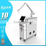 1064 nm 532nm Q switched nd yag laser/ 532nm 1-10HZ Skin Rejuvenation Professional Model ND YAG Laser Tattoo Removal Machine