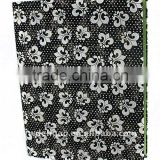 Embossed Glitter Woven Cloth Wrapping Ring Binder Desktop File Holder for Office Stationery Cardboard A4 or FC Size
