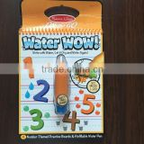 2015 safe and non-toxic kids educational learning number water drawing book