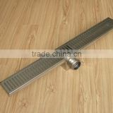 Audemar E Series Straight Edge Small Sloped Channel Base Stainless Steel Horizontal Shower Drain