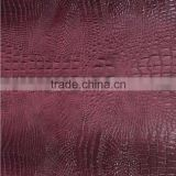PVC artificial leather Crocodile skin synthetic leather with good quality ,usually use for ladides handbags ,wallets ,purse