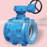 PTFE Lined 3-pieces Ball Valve for oil pipeline