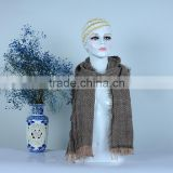 Wholesale Fashion Plain Color Wool Circle Loop Infinity Women Knitted Scarf