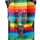 2014 new Waterproof Baby Stroller Cushion Rainbow Baby Car Seat Padding