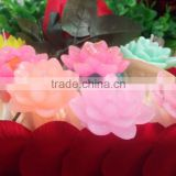 China Paraffin Wax Carved Handmade Flower Shaped Candles for Valentine's Day/Gift Custom Valentine's Day Candles