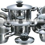 New product stainless steel cookware set stainless steel cooking pot frying pan(XM-7029BS)