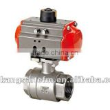2PC Pneumatic Ball Valve , reduced port ball valve, air torque actuator ball valve
