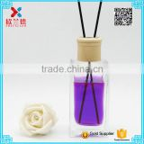 hot sale 200ml rectangle perfume diffuser glass perfume bottle for car and room                                                                                                         Supplier's Choice