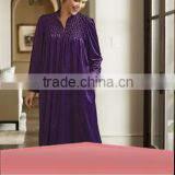 Export Purple Long Luxury Zip Front Women's Loungewear Pyjama