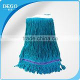 Cangnan factory looped-end kentucky/ clip mop head with cotton polyester blended mop head
