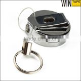 Business Identification Card Keyring Logo Name Retractable Badge Reel with Metal Tape