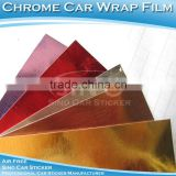 Chrome Car Stickers/Chrome Mirror Vinyl Film/Chrome Brushed Film For Vehicle With Air Bubble Free 1.52x30m