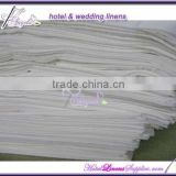 200TC white plain percale bed sheets for non-star hotels, motels