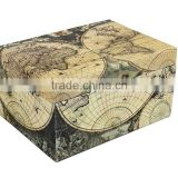 Store Indya Jewelry Box Hand Crafted in Cardboard & Handmade Paper for Trinket Keepsake Storage