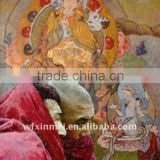 buddha oil painting on Non-woven Fabric canvas