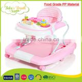BW-16B food grade PP material baby walker soft seat cushion baby walker with brakes 2016