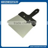 240mm Stainless Steel Taping Knife with Plastic Handle, Long Handle Putty Knife civil construction tools