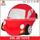 good quality plush red car toy stuffed kids soft car toy