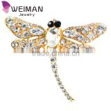 Hot 2016 New Fashion Jewelry Broochs 8 Colors Vintage Lovely Dragonfly Crystal Rhinestone Scarf Pins Brooches For Women