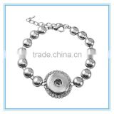 circle link chain bracelet accented with sparkling rhinestones