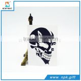 Black Skull Style Fancy Die Cut Car Body Vinyl Sticker