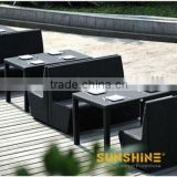 Shenzhen furniture manufacturer wicker ratan restaurant table chairs set with good price
