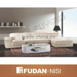 Modern home living room furniture leather l shaped sofa set white