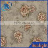 Sunlight DE35065 American country embossed non-woven wallpaper flower backdrop wallpaper