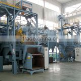 Rotary oscillating barrel/drum type shot blasting cleaning/peening machine for small batch parts