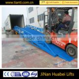 Hot sale 10t mobile hydraulic container loading dock ramp /hydraulic lift for container                                                                                                         Supplier's Choice