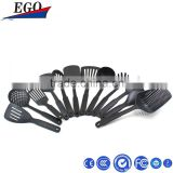 Kitchen Utensil 12 pcs different kitchen tools and uses black non-stick cookware set