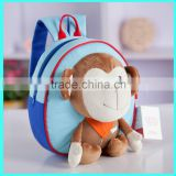 2015 hot selling new fashion plush animal monkey baby boy hanging toys bag                                                                         Quality Choice