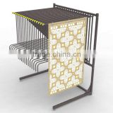Retail Free standing Strong Metal Rug Carpet Display Rack                                                                         Quality Choice