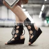 2016 Fashion lady sandals boots rome style women sandals shoes knitted shoes summer boots