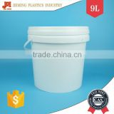 10 kg Plastic Buckets with Lid and Plastic Handle for White Glue / Waterproof / Water / Coating / Latex Paint