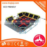 Cheap rectangle trampolines park prices for sale in guangzhou