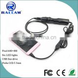 most popular 1m snake tube usb endoscope pipe inspection camera for android phone with otg