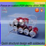 Countertop metal wire can dispenser beverage bottle display rack