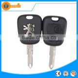 Plastic 2 button car key covers with Metal logo for Peugeot 206 205 106 405 remote key blank fob with 206 blade