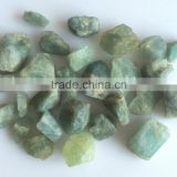 natural aquamarine green blue raw rough loose gemstones