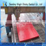 Crane foot bearing support UHMWPE outrigger pad/crane sleeper UHMW PE pad