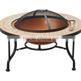 YL-F8040 Metal brazier and mosaic surface Fire-pit