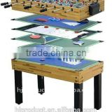 4'Factory promotion 12 in 1 multi games table. Billiard table, shuffle board, bowling, poker card, chess, dice, ring, backgammon