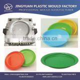 Plastic dishware mould / Plastic Salver Mould / High quality Custom Injection hard plastic plate mold supplier