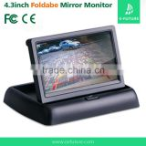 4.3 Inch TFT LCD Rearview Fold Monitor Vehicle Dashboard Monitor for CCTV camera, car Reversing camera, car DVD player