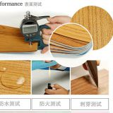 Chemical resistant plastic pvc vinyl dry back planks flooring for bedroom