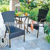 All Weather Resin Wicker Patio Bistro Furniture Dining Table and Set -Dark Brown